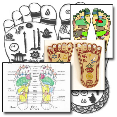 different reflexology charts