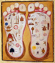 reflexology vishnu footprint feet